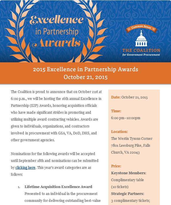 EIP award flyer