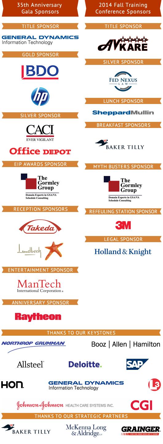 FULL Sponsor List